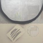 """Semicircle"" mixed medias on canvas, 140x120 cm, 2016"