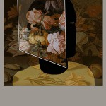 """Floria"" ""silkscreen and oil paint 1.2mx1.2m"