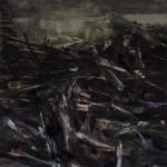 « Le chaos » Oil on wood,  30x30 cm, 2017