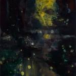 « Les lucioles » Oil on wood,  30x30 cm, 2017