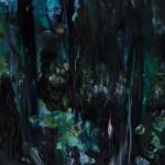 « Les bois bleus » Oil on wood, 30x30 cm, 2017