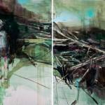 « Grand faune » Oil on canvas,  200x300 cm, 2017