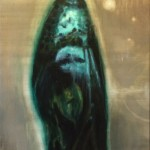 """Transformation"" (Green Cocoon) oil on canvas 90x200 cm 2017"