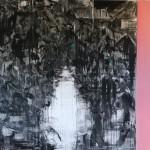 Empara II, 190x160 cm, Charcoal, acryl & oil on linen, 2017/18