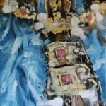 Silk detail, 80x100 cm, oil on linen, 2018