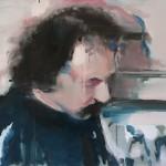 Portrait Z., oil on linen, 90x70 cm, 2017
