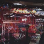 The Curtain, 2018, acryl op doek, 30x30cm